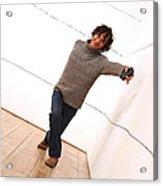 Dave Climbs The Wall Acrylic Print