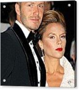 David Beckham And Victoria Beckham Acrylic Print by Everett