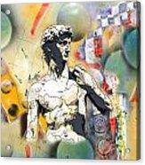 David In Space-time Acrylic Print