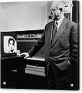 David Sarnoff 1891-1971, Watching Acrylic Print by Everett