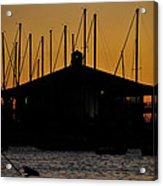 Davis Islands Yacht Club At Sunset Acrylic Print