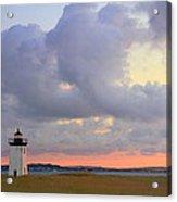Dawn At Long Point Lighthouse Acrylic Print