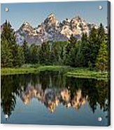 Dawn At Schwabacher Landing Acrylic Print