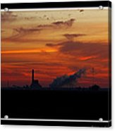 Dawn At The Power Plant Acrylic Print