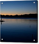 dawn at Yellowstone Lake Acrylic Print