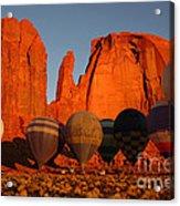 Dawn Flight In Monument Valley Acrylic Print