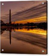 Dawn In The Capital Acrylic Print