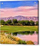 Dawn On The Golf Course Acrylic Print