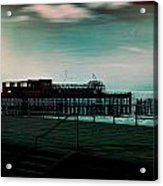 Dawn On The Seafront At Hastings Acrylic Print