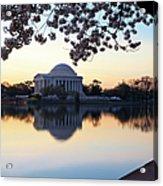 Dawn Over Jefferson Memorial Acrylic Print