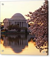 Dawn Over The Jefferson Memorial Acrylic Print