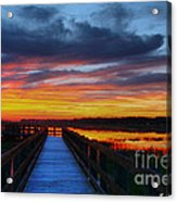 Dawn Skies At The Fishing Pier Acrylic Print
