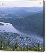 Dawson City And The Yukon River Acrylic Print