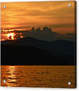 Day Ends In Orange Acrylic Print