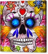 Day Of The Dead - Death Mask Acrylic Print