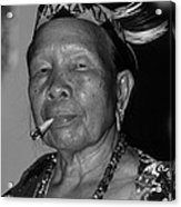 Dayak Woman Acrylic Print
