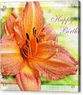 Daylily Greeting Card Birthday Acrylic Print