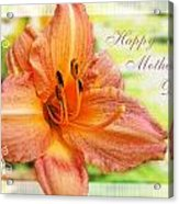 Daylily Greeting Card Mothers Day Acrylic Print