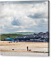 Daymer Bay Beach Landscape In Cornwall Uk Acrylic Print