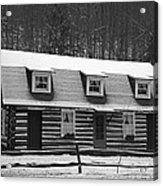 Days Of Yore Log Cabin Acrylic Print
