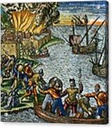 De Bry: Chicora, 1590 Acrylic Print