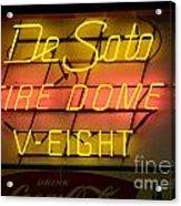 De Soto Fire Dome V Eight Neon Sign Acrylic Print