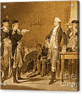 Death Warrant Of Major John Andre, 1780 Acrylic Print by Photo Researchers
