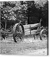Decaying Wagon Black And White Acrylic Print