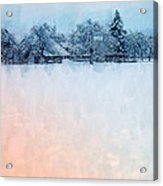 December Snow Acrylic Print