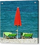 Deck Chairs Acrylic Print