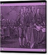 Declaration Of Independence In Pink Acrylic Print