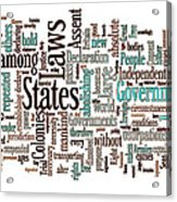 Declaration Of Independence Word Cloud Acrylic Print