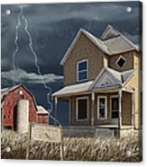Decline Of The Small Farm Number 6 Version 2 Acrylic Print
