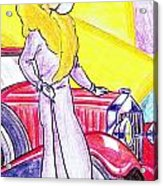 Deco Lady With Auto Acrylic Print
