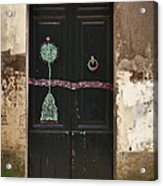 Decorated Door Acrylic Print