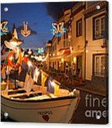 Decorated Fishing Boats Acrylic Print