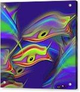 Deep Blue Ocean Life Acrylic Print
