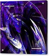 Deep Purple Abstract Acrylic Print