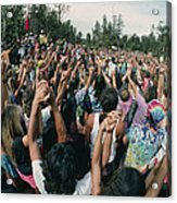 Deforestation Protest, Hawaii Acrylic Print by G. Brad Lewis