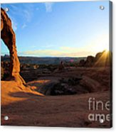 Delicate Arch Bowl Starburst Acrylic Print