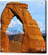 Delicate Arch Closeup Acrylic Print