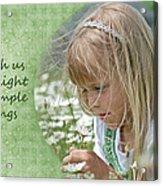 Delightful Daisy Acrylic Print by Maria Dryfhout