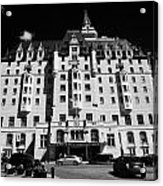 delta bessborough hotel downtown Saskatoon Saskatchewan Canada Acrylic Print by Joe Fox