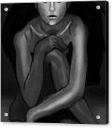 Demi Moore Black And White Acrylic Print