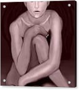 Demi Moore Old Style Acrylic Print