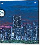 Denver Moon Acrylic Print