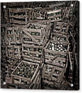 Deposit Wooden Crate Acrylic Print