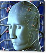 Depression Acrylic Print by David Mack