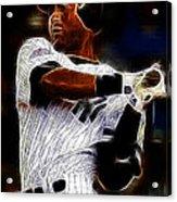Derek Jeter New York Yankee Acrylic Print