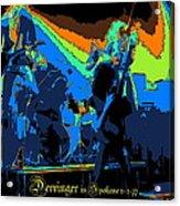 Derringer Rock Spokane 1977 Acrylic Print
